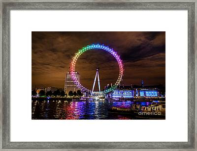 London Eye Pride Framed Print by Matt Malloy