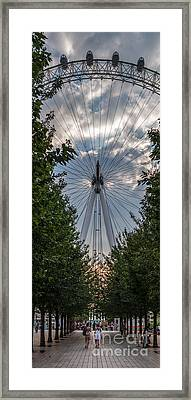 Framed Print featuring the photograph London Eye Vertical Panorama by Matt Malloy