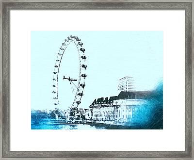 London Eye Vintage Framed Print by Daniel Janda