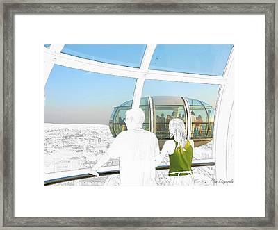 London Eyes Framed Print by Flow Fitzgerald