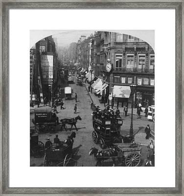 London Fleet Street, C1901 Framed Print