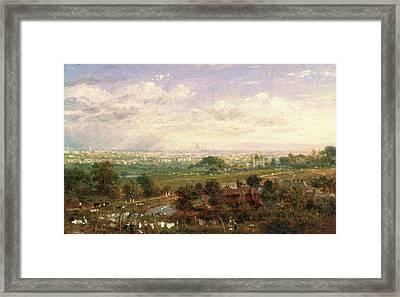 London From Islington Hill, Frederick Nash Framed Print