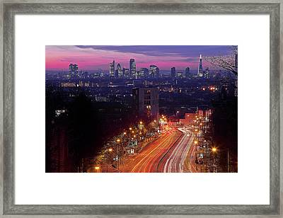 London From The Hornsey Lane Bridge Framed Print by By Andrea Pucci