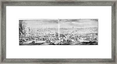 London Frost Fair, 1684 Framed Print by Granger