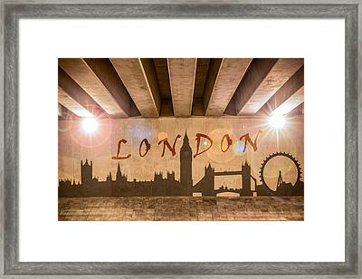 London Graffiti Landmarks Framed Print by Semmick Photo