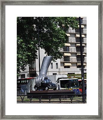 London Hand Framed Print by Teresa Tilley