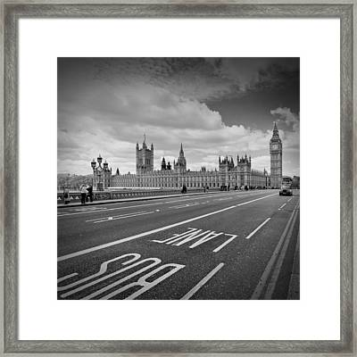 London - Houses Of Parliament  Framed Print