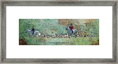 London Hunt Framed Print by Melanie Prosser