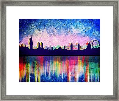 London In Blue  Framed Print by Mark Ashkenazi