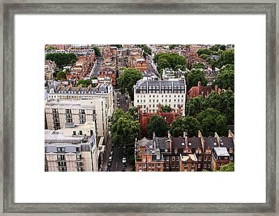 London Kensington Rooftops Framed Print by Nicky Jameson