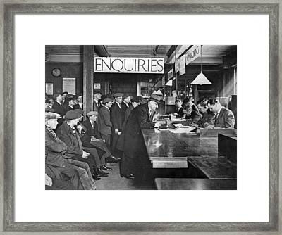 London Labor Exchange Framed Print by Underwood Archives