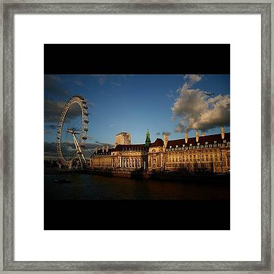 #london #londoneye #westminsterbridge Framed Print