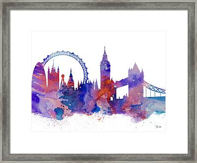 London Framed Print by Watercolor Girl