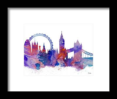 Tower Bridge London Framed Prints