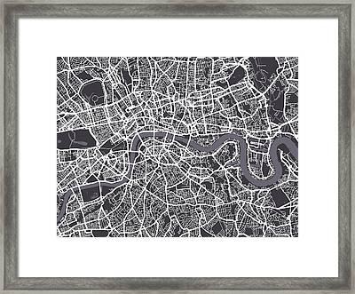 London Map Art Framed Print