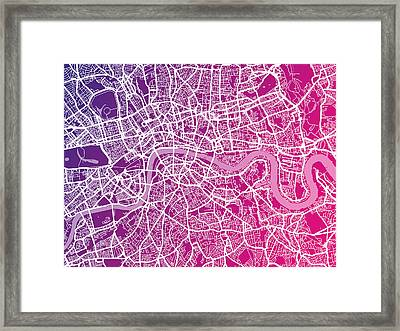London Map Red Framed Print
