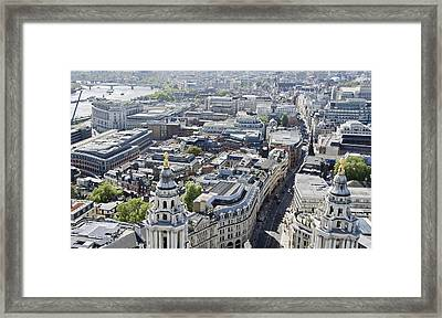 London Framed Print by Mesha Zelkovich