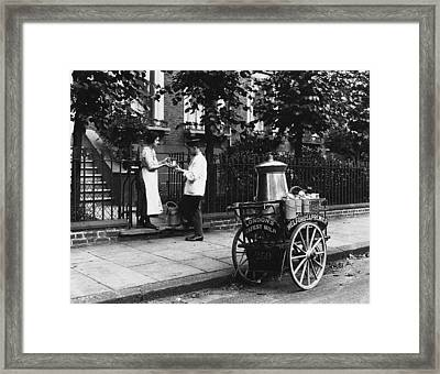 London Milkman, C1905 Framed Print by Granger
