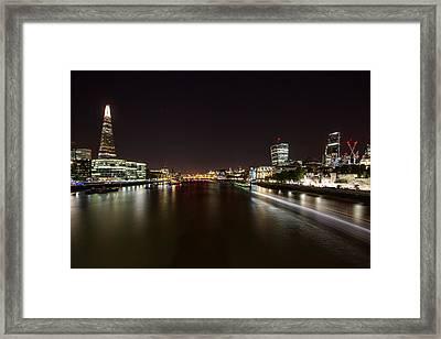 London Nightscape Framed Print by Wayne Molyneux