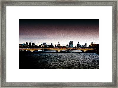 London Over The Waterloo Bridge Framed Print by RicardMN Photography
