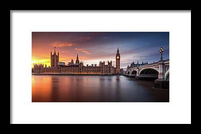 Houses Of Parliament Framed Prints