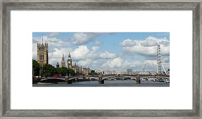London Panorama Framed Print by John Topman