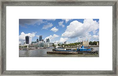 London Panoramic Framed Print by Donald Davis
