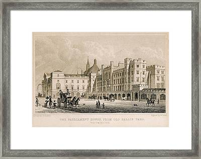London. Parliament. Engraving - � J Framed Print