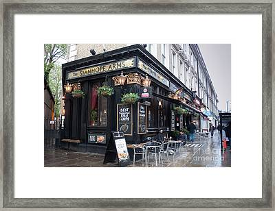 London Pub Framed Print by Thomas Marchessault
