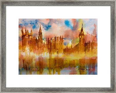 London Rising Framed Print