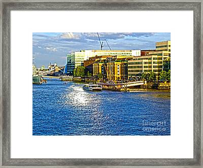 London River Thames Framed Print by Andrew Middleton
