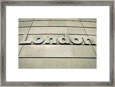 London Sign Framed Print by Tom Gowanlock