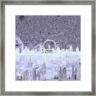 London Skyline Abstract 10 Framed Print
