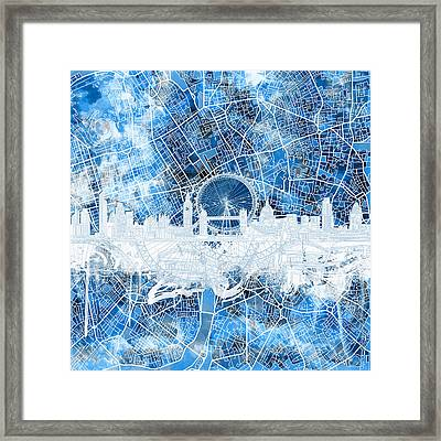 London Skyline Abstract 13 Framed Print