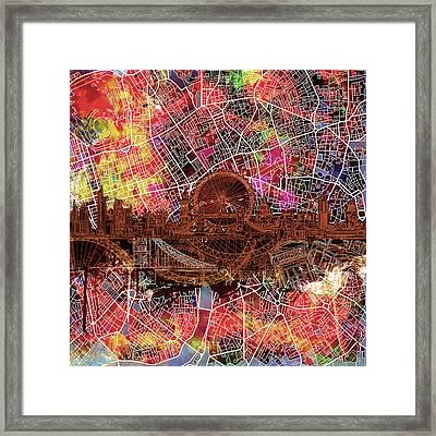 London Skyline Abstract 5 Framed Print