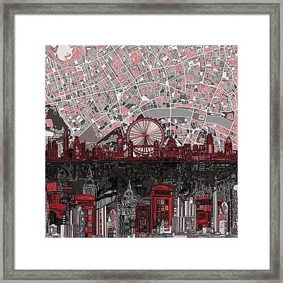 London Skyline Abstract 6 Framed Print