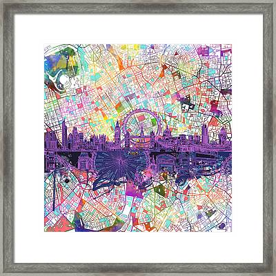 London Skyline Abstract Framed Print