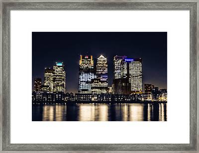 London Skyline At Night Framed Print