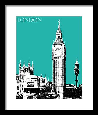 England Digital Art Framed Prints