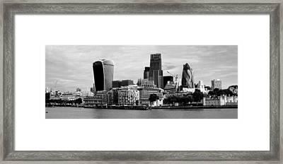 London Skyline Cityscape Bw Framed Print by David French