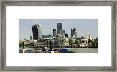 London Skyline Cityscape Framed Print by David French