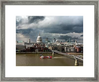 London Skyline Framed Print by Daniel Sambraus