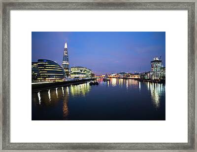 London Skyline From Tower Bridge Framed Print