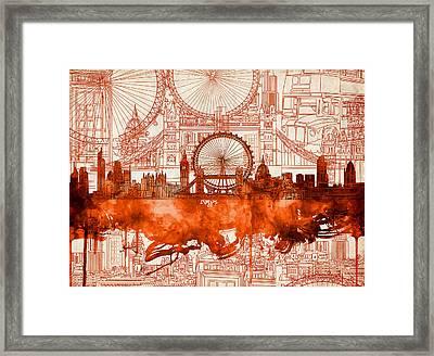 London Skyline Old Vintage 2 Framed Print