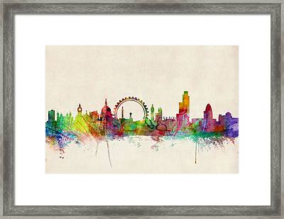 London Skyline Panoramic Framed Print by Michael Tompsett
