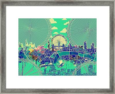 London Skyline Vintage 2 Framed Print