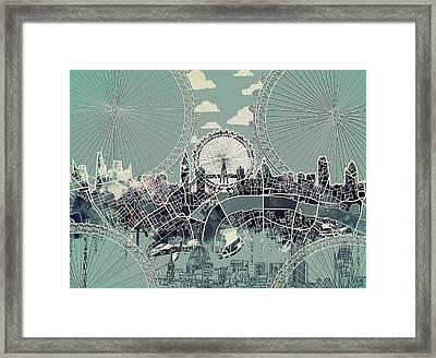 London Skyline Vintage Framed Print