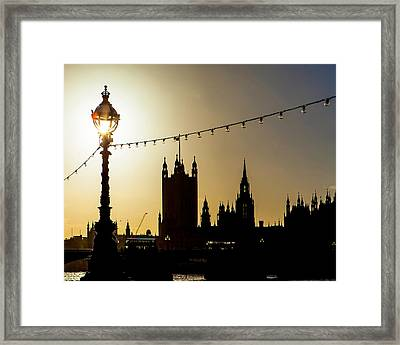 London South Bank Silhouette Framed Print