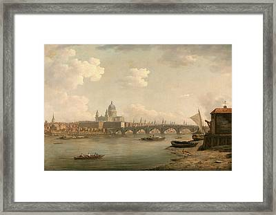 London, St. Pauls And Blackfriars Bridge Signed Framed Print by Litz Collection