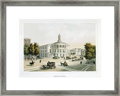 London Stock Exchange 19th C Framed Print